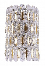 Бра Crystal Lux LIRICA AP2 CHROME/GOLD-TRANSPARENT - фото и цены