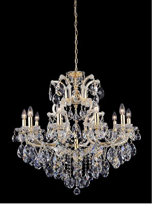 Люстра Crystal Lux ISABEL SP11 GOLD/TRANSPARENT - фото и цены