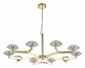 Люстра Crystal Lux REBECA SP10 GOLD - фото и цены