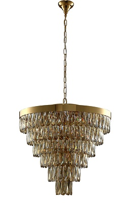 Люстра Crystal Lux ABIGAIL SP-PL15 D620 GOLD/AMBER - фото и цены